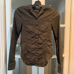 Acne Jeans khaki long sleeve top. Size 36 (U.S. 2)
